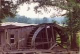 Ruiny tartaku w Chocińskim Młynie- widok na koło