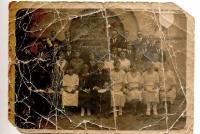Kółko śpiewackie działające przy kościele parafialnym w 1928 roku