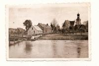 Widok na Kościół pw. św. Barbary i okoliczne zabudowania od strony Koziego Mostku