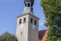 Widok na wieżę Kościoła św. Barbary
