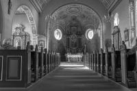 Wnętrze świątyni pw. św. Barbary