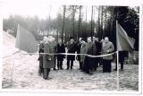 Otwarcie rurociągu na Zaniach- około 1960 roku