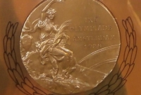 Medal zdobyty przez Bolesława Drewka na Olimpiadzie w Amsterdamie